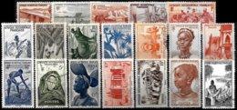 FR. WEST AFRICA, Yv. 24-42, M-U, F-VF, Cat. €15 - A.O.F. (1934-1959)