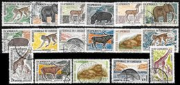 CAMEROUN, Animals, Yv. 339-53, Used, F-VF, Cat. €10 - Cameroun (1915-1959)