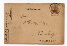 Bücherzettel Jena 22.8.99 Nach Nürnberg - Briefe U. Dokumente