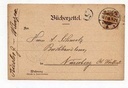 Bücherzettel Wurzen 16.7.99 Nach Nürnberg - Briefe U. Dokumente