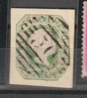 AÇORES CE AFINSA - 50 REIS D. PEDRO V CABELOS LISOS - 50 PONTA DELGADA - RECORTADO E COLADO SOBRE FRAGMENTO - Açores