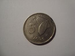 MONNAIE NIGERIA 5 KOBO 1974 - Nigeria