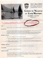 JEUNESSE SUD-EST SNCF COLONIE DE VACANCES CAMP NAUTIQUE A DUINGT (HAUTE-SAVOIE) 1971 - Publicidad
