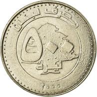 Monnaie, Lebanon, 500 Livres, 2000, TTB, Nickel Plated Steel, KM:39 - Liban