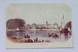 Chelsea Hospital, London, England - Antique Etching / Engraving Print - Prints & Engravings