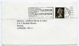 Slogan Postmark On Cover SOUTHEND ILLUMINATIONS, 1967 / Address, Strand, London - 1952-.... (Elizabeth II)