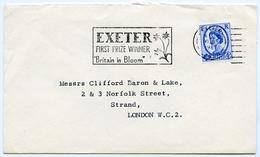 Slogan Postmark On Cover EXETER Britain In Bloom 1967 / Address - Strand, London - 1952-.... (Elizabeth II)