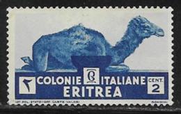 Eritrea Scott # 158 Unused No Gum Camel, 1934 - Eritrea
