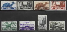 Eritrea Scott # 158-65 Used Short Set Various Designs, 1934 - Eritrea