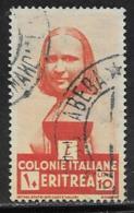 Eritrea Scott # 167 Used Woman, 1934, CV$24.00 - Eritrea