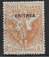 Eritrea Scott # B3 Used Italy #B3 Overprinted, 1915, CV$37.50 - Eritrea