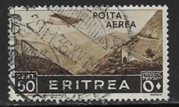 Eritrea Scott # C8 Used Plane Over Mountains, 1938 - Eritrea