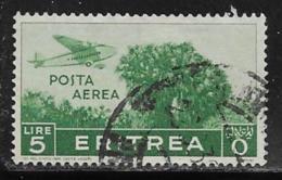 Eritrea Scott # C15 Used Plane Over Trees, 1938 - Eritrea