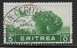 Eritrea Scott # C15 Used Plane Over Trees, 1938,small Stains - Eritrea