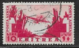 Eritrea Scott # C16 Used Plane Over Cacti, 1938, CV$27.50, 2 Short Perfs - Eritrea