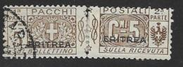 Eritrea Scott # Q9 Parts 1 Used And Part 2 Mint Hinged  Italy Parcel Post Stamp Overprinted, 1917 - Eritrea