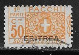 Eritrea Scott # Q13 Part 1 Used Italy Parcel Post Stamp Overprinted, 1917 - Eritrea