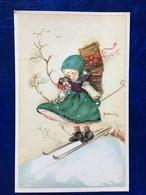 """Cpa-""""Fillette Fesant Du Ski""""-Bonnie-(my Ref 134) - Illustrateurs & Photographes"""