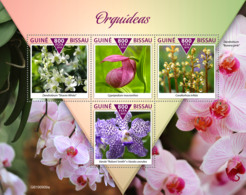 Guinea Bissau  2019  Orchids S201911 - Guinea-Bissau