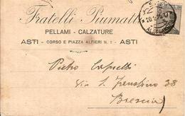 (C).Asti.Cartolina Commerciale Pubblicitaria Del 20 Feb 1929 (29-a16) - Asti