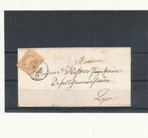 N°28 SUR LETTRE CACHET 1 CERCLE ERREUR LYOE AU LIEU DE LYON. - 1863-1870 Napoléon III. Laure