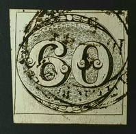 1843 Brasil 60R Olho De Boi - Yvert 2 (Certificado) - Correio Geral Corte -Bull's Eye Brazil - CERTIFIED / EXPERTIZED - Brazil