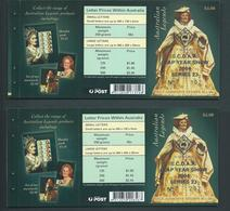 Australia 2004 Dame Joan Sutherland Booklets Of 10 Special SCDAA Leap Year Show Overprint In Gold MNH Both Barcodes - Usados