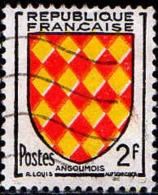 France Poste Obl Yv:1003 Mi:1029 Armoiries De L'Angoumois (Lign.Ondulées) - Francia