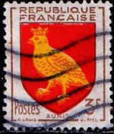 France Poste Obl Yv:1004 Mi:1030 Aunis Armoiries (Lign.Ondulées) - Francia