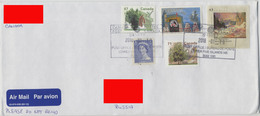 2018 Canada Addressed Air Mail Cover. 5 Different Stamps: Elizabeth, Nature And Paintings. - Briefe U. Dokumente