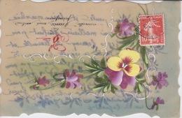 CARTE FANTAISIE - BONNE ANNEE 1910 - PEINTE A LA MAIN  SUR CELLULOID - Autres