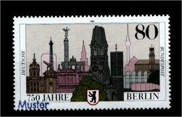 BUND 1987 Nr 1306 ** Mit MUSTER Handstempel (94967) - BRD