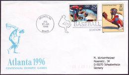 USA - 1996 J - Olympic Games 1996 - Cover  (baseball) - Estate 1996: Atlanta