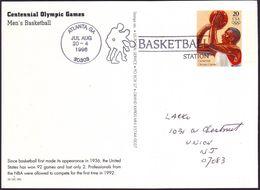 USA - 1996 K - Olympic Games 1996 - Stationery Card  (basketball) - Estate 1996: Atlanta