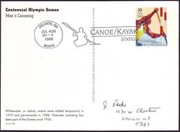 USA - 1996 L - Olympic Games 1996 - Stationery Card  (canoe/kayak) - Estate 1996: Atlanta