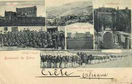 Souvenir De Crète Sldats Francais Soubachi Fortraise De Soubachi Cale Kapousi La Fortraise Ouzonn Mehmed Oglon Halepa RV - Grecia