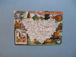 Carte Département  De La HAUTE  LOIRE   - 43  -   Illustration PINCHON  -  Carte Géographique  - - France