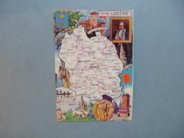 Carte Département  De La LOZERE   -  48  -   Illustration PINCHON  -  Carte Géographique  - - Autres Communes