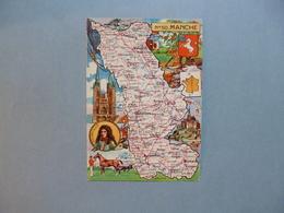 Carte Département  De La MANCHE   -  50  -   Illustration PINCHON  -  Carte Géographique  - - Autres Communes