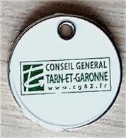 Jeton De Caddie  Département  Conseil  Général  TARN - ET - GARONNE  ( 82 )  Recto  Verso - Jetons De Caddies