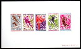Epreuve Collective YT N° 1543 à 1547 -  Cote: 600 € - - Epreuves De Luxe