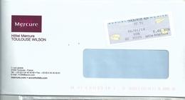 Vignette D'affranchissement De Guichet - MOG - Toulouse RP CCT1 - Enveloppe Entière - 2000 «Avions En Papier»