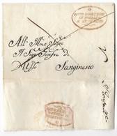 DA SANSEVERINO A SAN GINESIO - 2.7.1822. - Italia