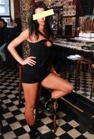 Grand Tirage Photo Originale Pin-Up Sexy Des Temps Modernes & Ambiance Bistrot - Pin-Ups