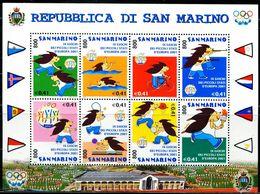 AT4351 San Marino 2001 European Flag Games S/S MNH - Baloncesto
