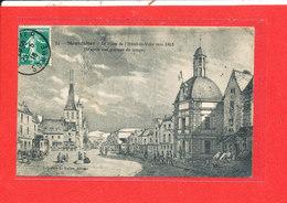 80 MONTDIDIER Cpa Animée Place De L ' Hotel De Ville D ' Apres Gravure Vers 1852     22 Vallée - Montdidier