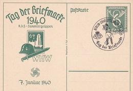 Entier Illustre Journée Du Timbre  Berlin-charlottenburg  07.01.1940 - Alemania