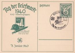 Entier Illustre Journée Du Timbre  Berlin NW 40 06.01.1940 - Deutschland