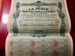 Manufacture  Lyonnaise  De  Couronnes  &  Articles   Funéraires----- Action  De 100  Frs - Industrie