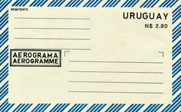URUGUAY - AEROGRAMA ; AEROGRAMME - Uruguay